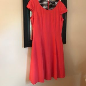 Coral Tahari dress.
